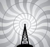 航空无线电铁塔向量通知 库存例证