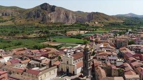 航空有小意大利镇的美丽的景色有庸医的 影视素材