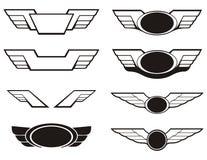 航空权威被设置的翼 免版税图库摄影