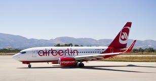 航空柏林,波音737 - 800 免版税库存照片