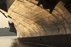 一部分的航空母舰、Itrepid海、空气&太空博物馆,纽约 库存图片