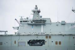 航空母舰在海 图库摄影