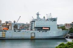 航空母舰在海 免版税库存照片