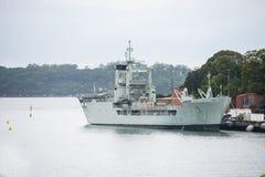 航空母舰在海 免版税图库摄影