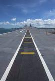 航空母舰的跑道 免版税图库摄影