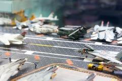 航空母舰跑道微型模型  免版税库存图片