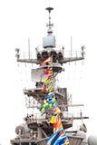 航空母舰通讯设备 免版税库存图片