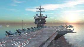 航空母舰 库存例证