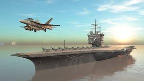 航空母舰 向量例证