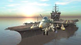 航空母舰 皇族释放例证