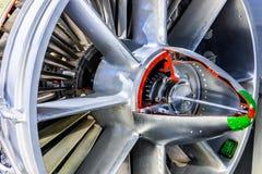 航空涡轮喷气引擎设备 库存图片