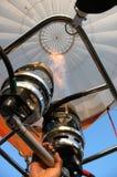 航空热baloon的燃烧器 库存图片
