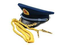 航空盖帽中国军队丝带 免版税库存图片