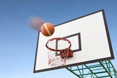 航空篮球篮 免版税图库摄影