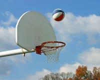 航空篮球 库存照片