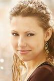航空美丽的女孩开放年轻人 免版税图库摄影
