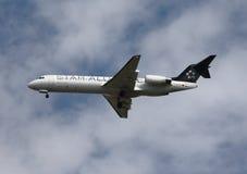 航空联盟联络两地间的星形 图库摄影