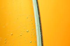 航空背景泡影矿物橙色水 库存图片