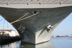 航空航空母舰船身海军岗位 免版税库存照片