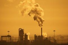 航空行业污染 免版税库存图片