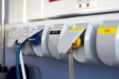 航空设备在医院 库存照片