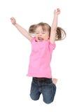 航空跳的小孩 免版税库存图片