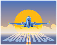 航空运货后勤学 向量例证