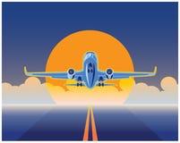 航空运货 库存例证