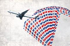 航空邮件纹理abstact 免版税库存照片