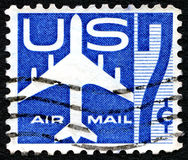 航空邮件美国邮票 免版税库存图片