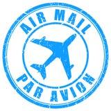 航空邮件邮票 免版税库存照片