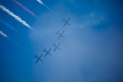 航空队喷气机海军执行显示星期 图库摄影