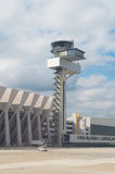 航空阿姆斯特丹控制国际schiphol塔业务量 免版税库存图片