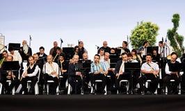航空音乐会开放的伊斯坦布尔 免版税图库摄影