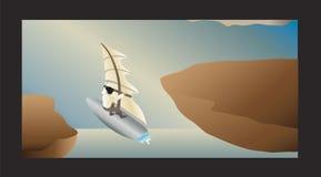航空风帆冲浪者 库存照片