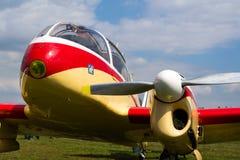 航空145个双活塞装有引擎的民用通用飞机在捷克斯洛伐克生产了 免版税库存照片