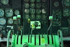 航空仪表盘区 库存照片