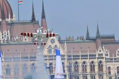 航空airshow布达佩斯公牛种族红色 免版税图库摄影
