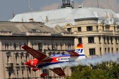 航空airshow布达佩斯公牛种族红色 免版税库存图片