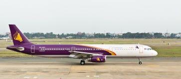 航空angkor柬埔寨喷气机登陆越南 库存图片