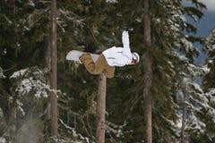 航空B边雪板 免版税库存图片