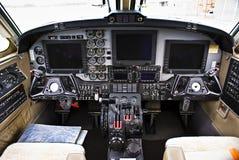 航空b200 beechcraft仪器超级国王的面板 图库摄影