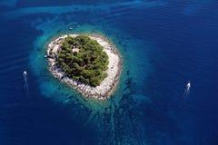 航空galesnik海岛 图库摄影