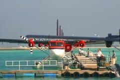 航空maldivian出租汽车 免版税库存图片