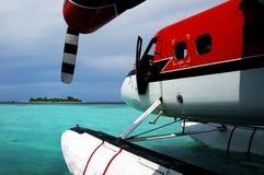 航空maldivian 库存图片