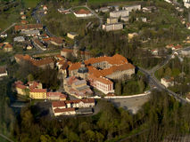 航空plasy修道院的照片 图库摄影