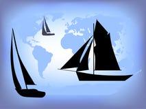 航行世界 库存图片