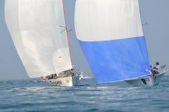 航行二条的小船- Centomiglia 2012年 库存照片