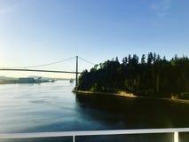 航行入温哥华不列颠哥伦比亚省 库存照片
