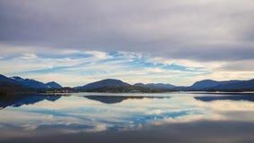 航行到Puerto伊甸园,巴塔哥尼亚在智利 C南部的峡湾  免版税图库摄影